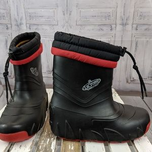 La Crosse youth winter warm snow boots shoes red